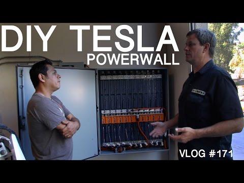 DIY TESLA Powerwall  - my  WALL vs ELON'S WALL