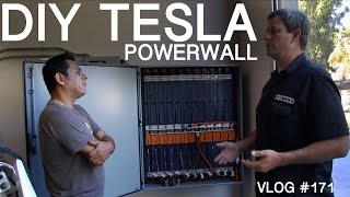 DIY TESLA Powerwall  - my  WALL vs ELON'S WALL