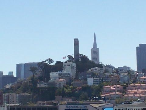 San Francisco Skyline – Night views of New Bay Bridge,  Oakland from Treasure Island