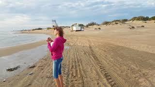 видео Анапа, центральный пляж 18 сентября 2015