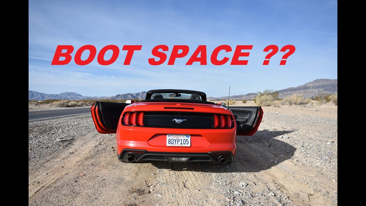 Ford Mustang Convertible Boot Space For Luggage Trunk Size In Ford Mustang Rear Space