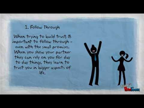 steps to building trust again in a relationship