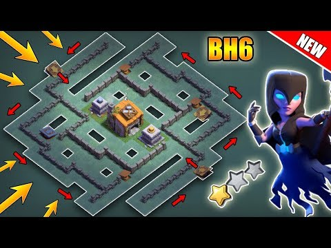 Best Builder Hall 6 (BH6) Base With Defense Replays | BH6 Anti 2 Star Base Layout | Clash Of Clans