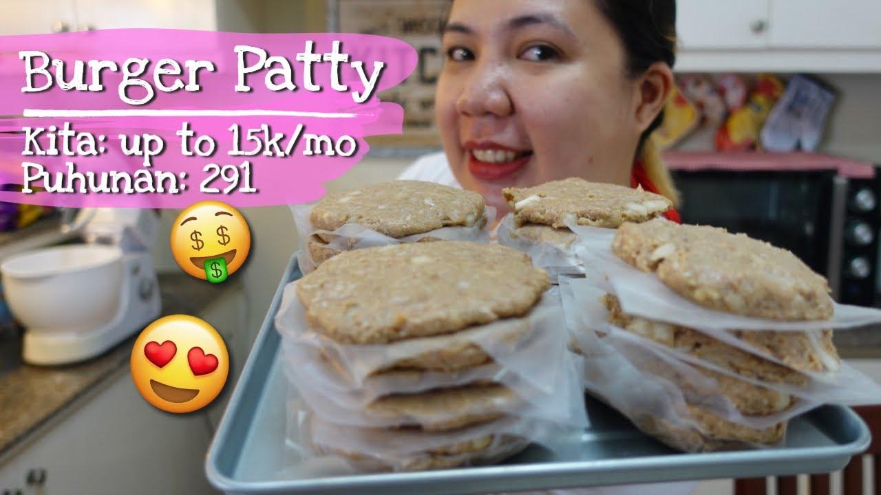 BURGER PATTY Recipe for Business with Costing | Sobrang dali lang, kayang kaya mo to gawin sa bahay!