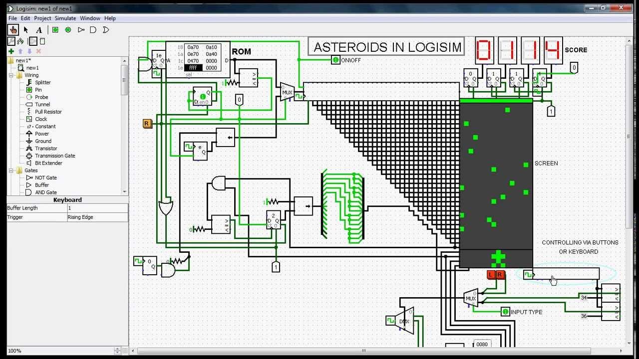 logic diagram logic gates logisim asteroids game youtube  logisim asteroids game youtube