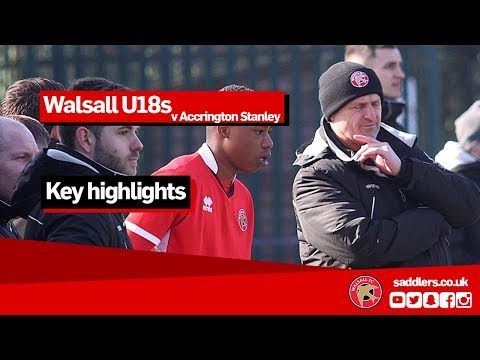 U18s HIGHLIGHTS | Walsall 2-0 Accrington Stanley