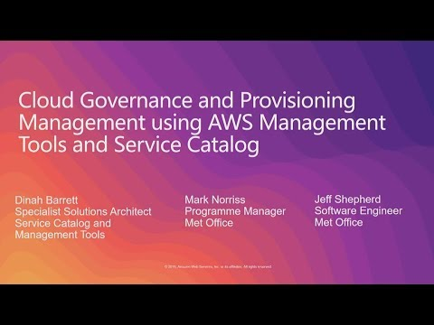Cloud Governance and Provisioning Management Using AWS Management Tools and AWS Service Catalog