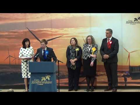 Renfrewshire East - General Election Declaration