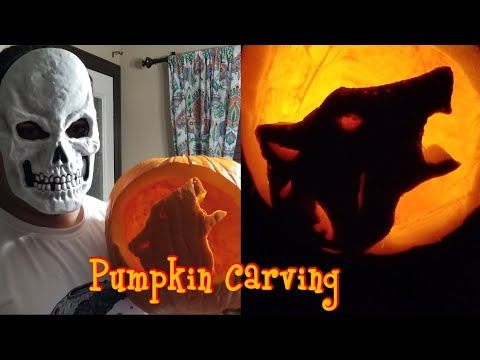 Carved a Wolf on a Pumpkin for Halloween 2018 | संजाल कोर | Timelapse