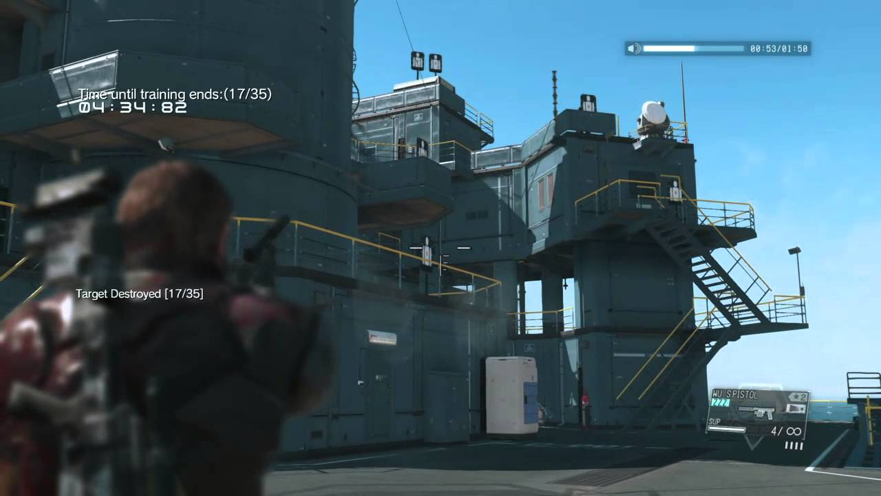 mgsv tpp target practice on command platform mother base youtube