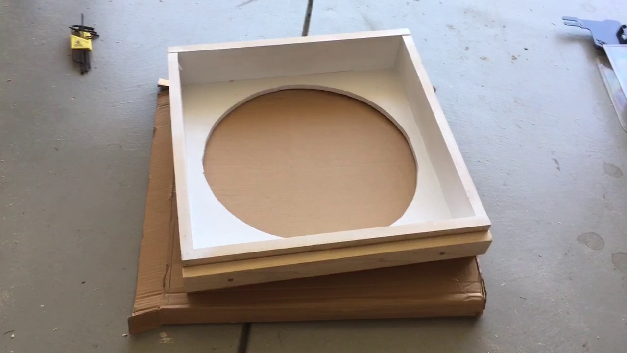 DIY Whole House Fan Custom Register Box Part 2 YouTube