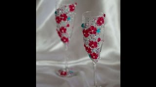 Свадебные бокалы своими руками. Мастер-класс