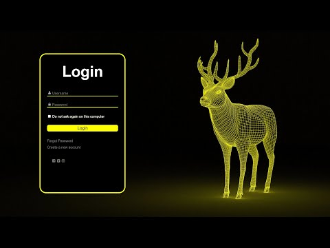 How To Design Animated Login Page Using HTML & CSS || Code Beauty
