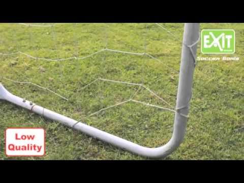 Fantastisch EXIT Fußballtor im Vergleich mit günstigem Fußballtor - YouTube HV69