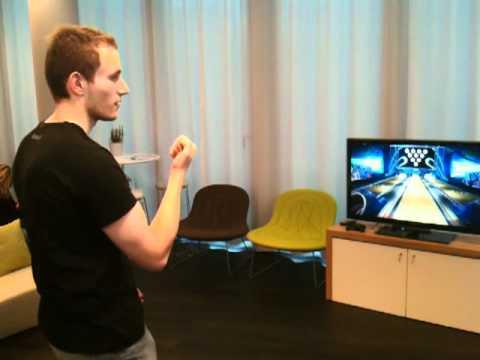 Kinect au Lounge du Campus Microsoft France : bowling
