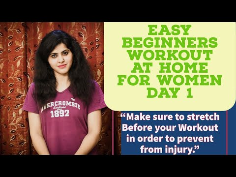 Easy Beginners workout at Home For Women