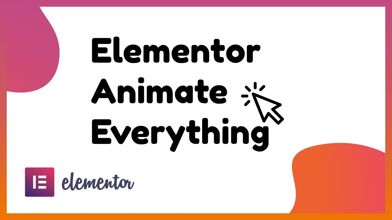 How to animate anything in Elementor (Shape Divider