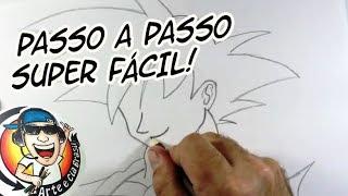 COMO DESENHAR O GOKU SUPER FÁCIL - PASSO A PASSO