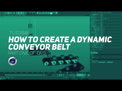 How To Make A Dynamic Conveyor Belt in Cinema 4D - Part 1
