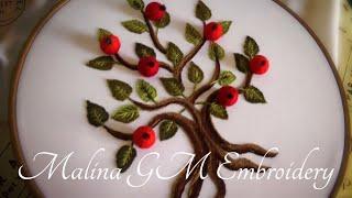How to embroider an apple tree 🍎 Как вышить дерево