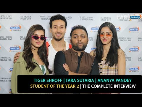 Tiger Shroff, Tara Sutaria, Ananya Pandey | Student of the Year 2 | The Complete Interview