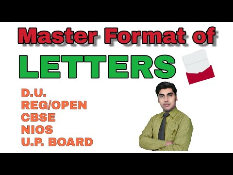 formal informal letter for exam, Master format for Letters in all type of exams, sartaz sir