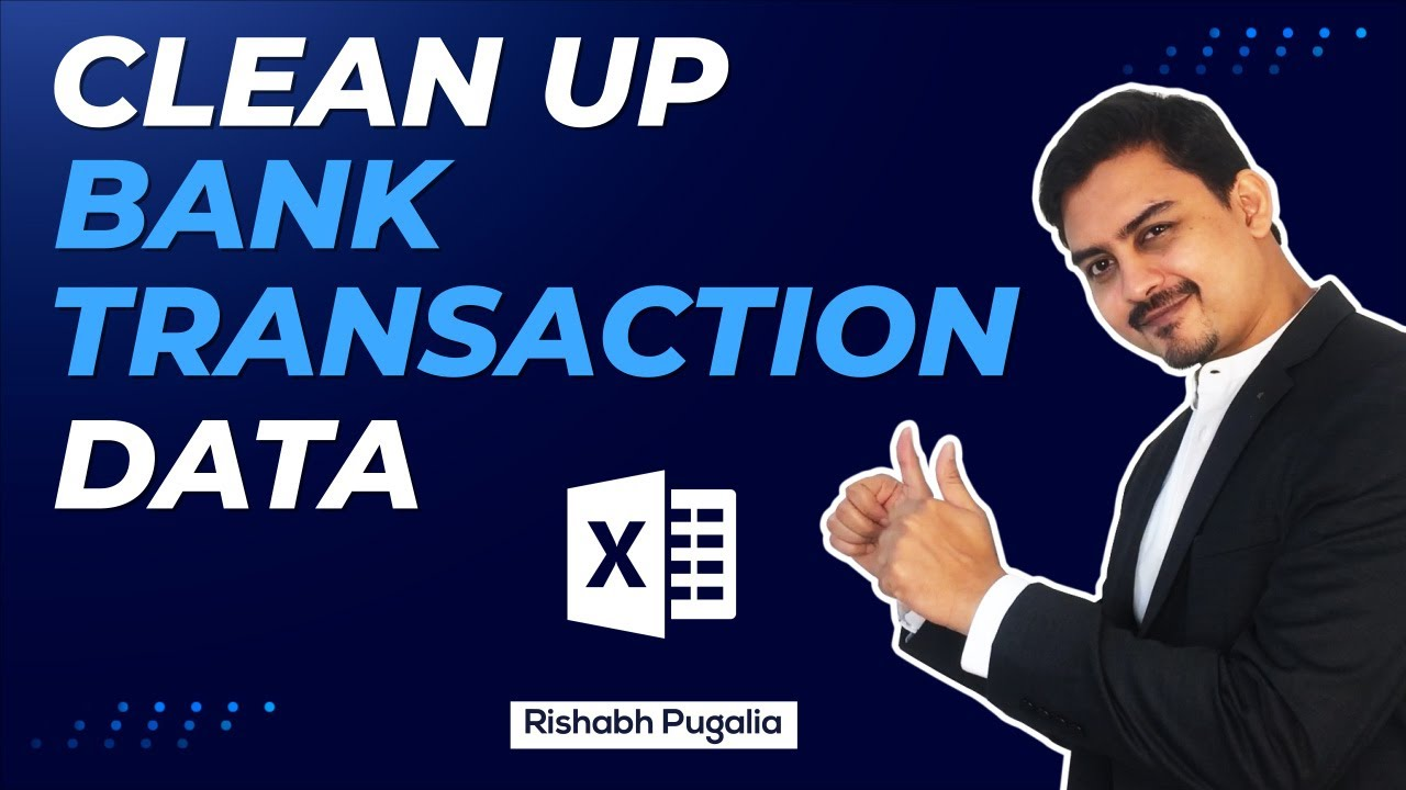MS Excel: Clean Up Bank Depositor Details   Excel in Hindi