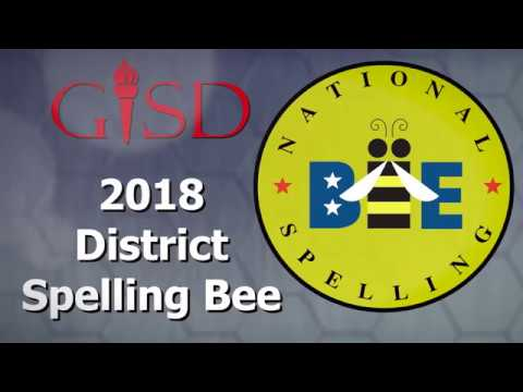 Garland ISD: 2018 GISD District Spelling Bee