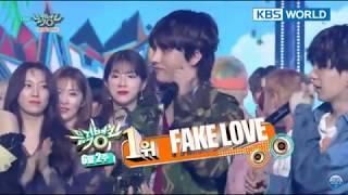 BTS (방탄소년단) Fake Love 10thwin on MusicBank 2018.06.08