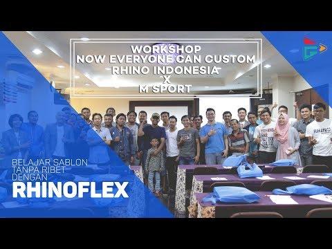 """Belajar Sablon Kaos Tanpa Ribet !!! """"Worksop Rhino Indonesia X M Sport at Cikarang Jawabarat"""""""