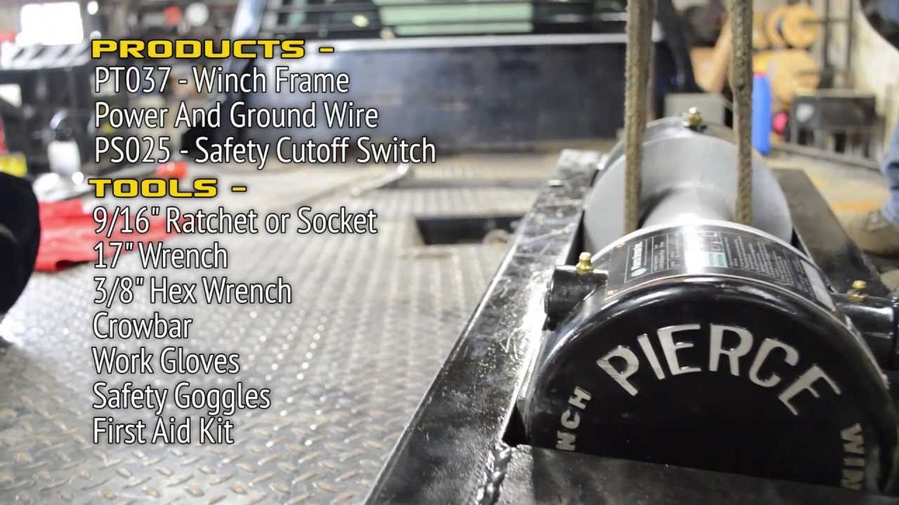 Pierce Electric Winch Installation Overview Pierce Arrow Inc