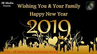 new year greeting cards 2019 and Wishing you Happy New Year from SR Media