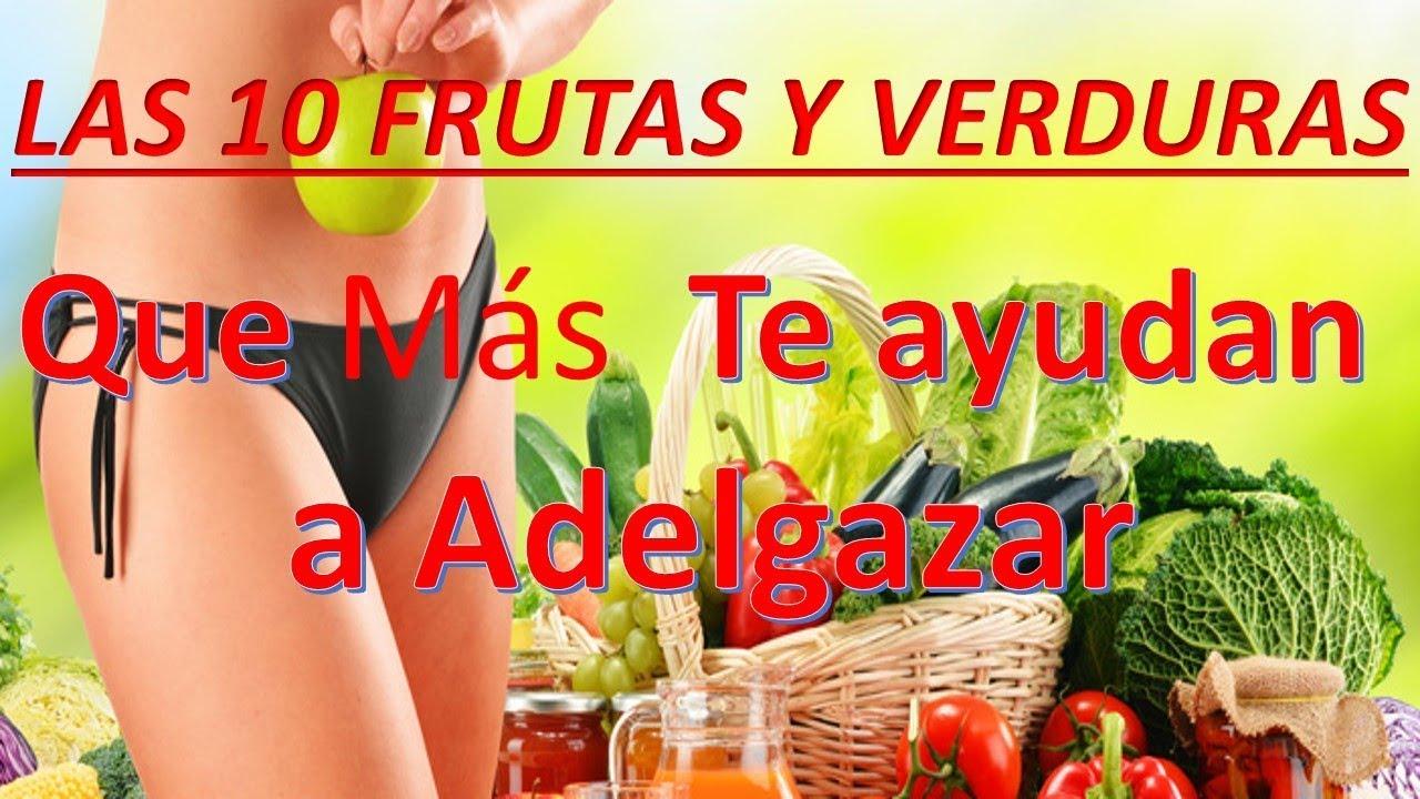 Frutas o verduras que te ayudan a bajar de peso
