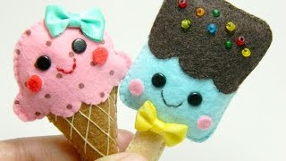 How To Make Adorable Felt Ice Cream Brooches - DIY Style Tutorial - Guidecentral