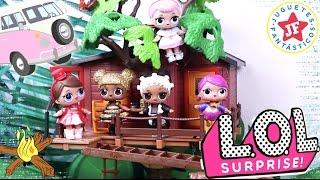 Muñecas LOL Surprise en una casa del árbol muy Divertida! En Español! - Juguetes Fantásticos