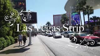 walking las vegas strip daytime in 4k