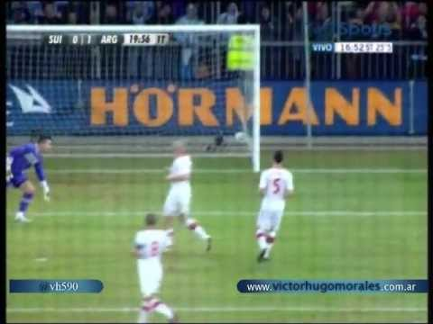 (0-1) Suiza vs Argentina (1-3) Amistoso Internacional 2012 1er Gol de Lionel Messi (29/2/2012)