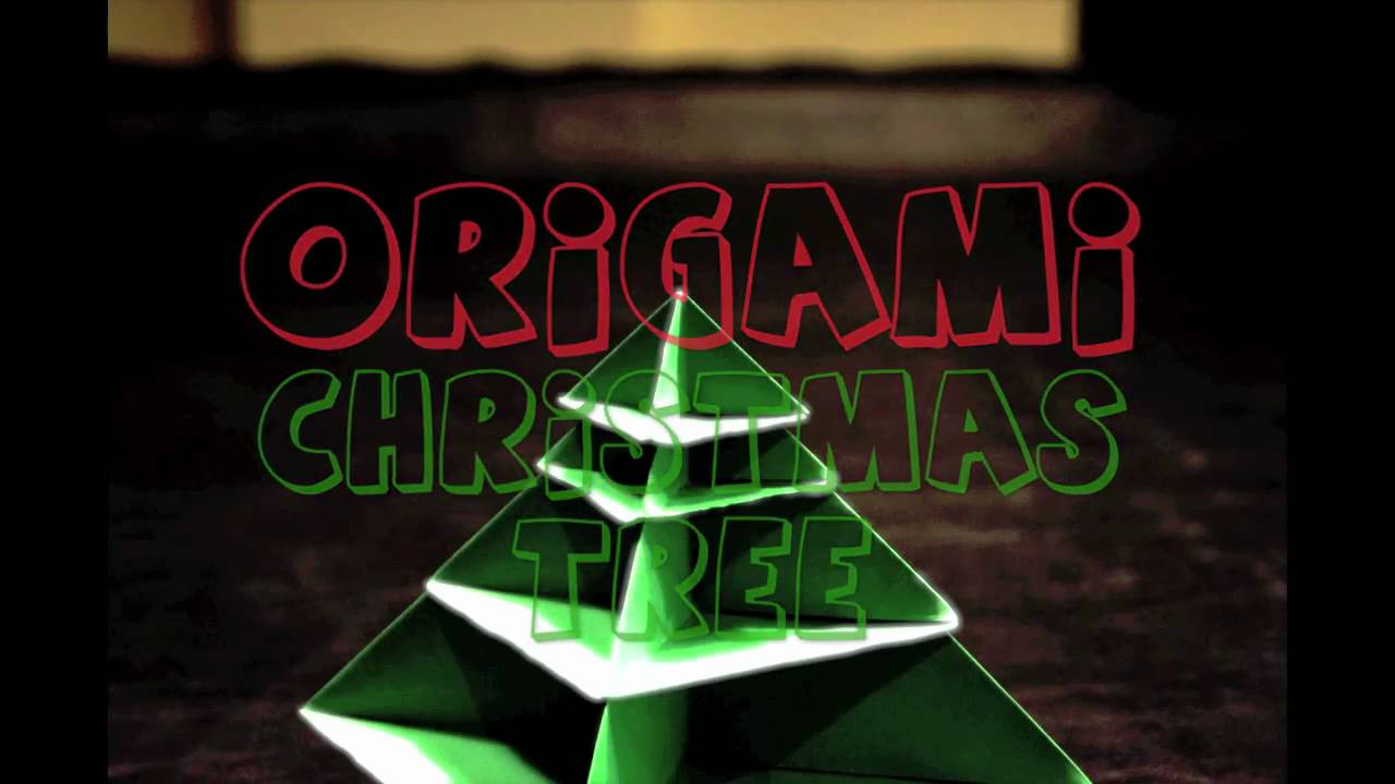 Papercraft Origami Christmas Tree Animation (Stop Motion)