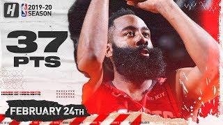 James Harden 37 Points Full Highlights   Knicks vs Rockets   February 24, 2020