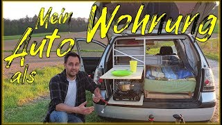 Roomtour im Mini Auto Camper | Leben im Auto | VW Golf 4