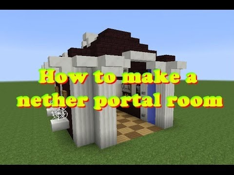 Minecraft How To Make A Nether Portal Room Youtube