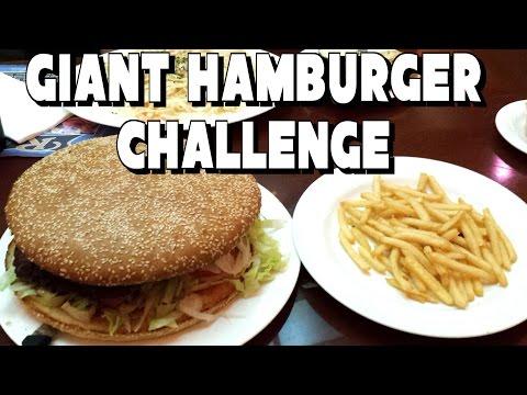 Giant Hamburger Challenge Vs FreakEating | Riverview Restaurant in Laughlin, NV