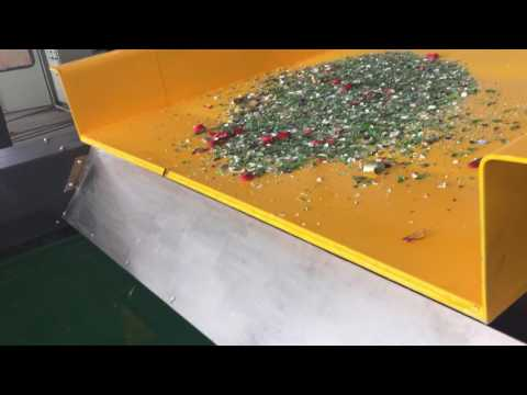 Eddy Current Separator for Aluminum Recycling from Glass Bottle Scrap.