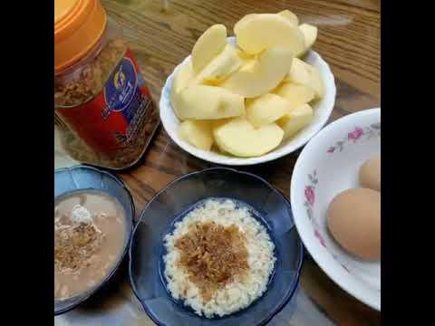 3分鐘簡易食譜魚鬆麥片粥 - YouTube