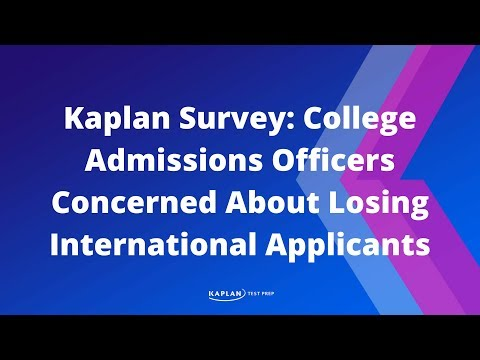 Kaplan Survey: College Admissions Officers Concerned About Losing International Applicants