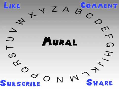 How to Say or Pronounce Mural