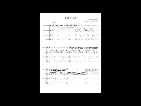 Let's Go ....Drumline music note by PPMB Drumline Cambodia (Original Song )