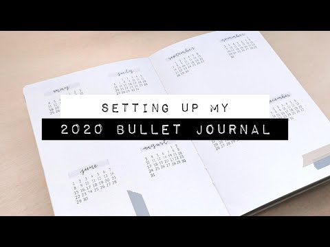 Setting Up My New Bullet Journal for 2020