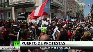 Continúan las protestas en Puerto Rico a pesar de la renuncia de Rosselló a repostularse