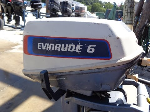 6m4c04 Used 1976 Evinrude 6604a 6hp 2 Stroke Tiller